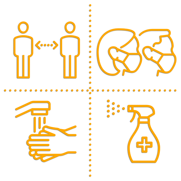 covid 19 safety icons